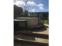 Hot tub -Softub T300 5/6 Person plus Rattan Surround