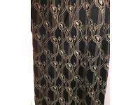 Charles Rennie Mackintosh pair curtains