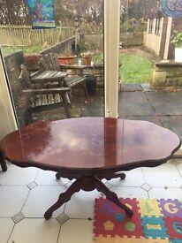 Shiny Oval Coffee Table