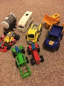 Bundle of 8 car toys