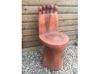 Wooden Foot Chair Unique Feet Toes