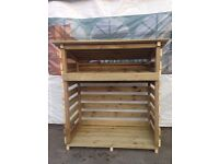 Log Store,Tannilised,4ft tall,delivery,low cost stoke areas