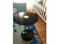 Laptop table - black glass / chrome