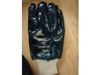 Rubber gloves men's work gloves. Bodyguards make size 10. 10 pairs
