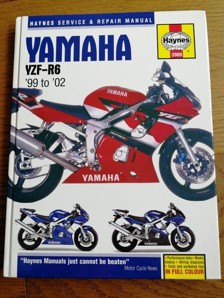 Haynes Manual Yamaha Yzf R6 99 To02 3900 In Greenwich Wiring Diagram