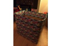 Two wrapped lucky dip boxes for party at home