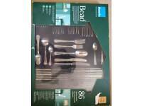86 piece cutlery set