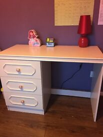 Study Table with 3 drawers white