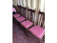 4 Oak Dining Chairs in good condition.