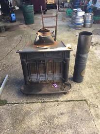 Iron Log Burner Fire Place