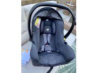 Joie I-Snug car seat and isofix base (never used!)