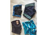 Boys swimming shorts. Mixed sizes look.