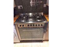 Indesit KP9508EXG 90cm duel fuel cooker