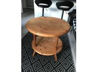 Solid pine plant/ side table ( can deliver )