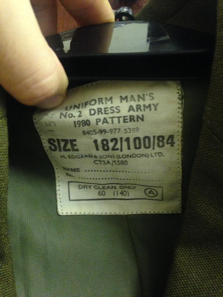 Genuine British Army Man's Uniform No2 Dress