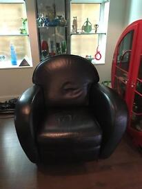 Leather armchair (black)