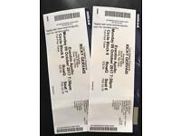 2x Ricky Gervais Tickets Mon 9th October