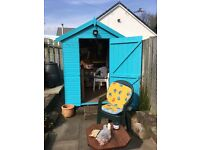 shed paint,( very)turquoise, 1 litre, unused, unopened