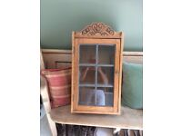 Beautiful Antique Oak display cupboard