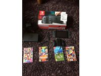 nintendo switch +4 games