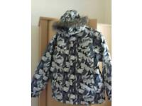 'Next' Grey Camouflage Ski/Snow Suit - Age 13/14 Years