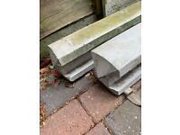 2x 8ft Concrete Garden Posts