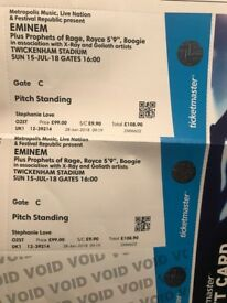 2 eminem tickets twickenham