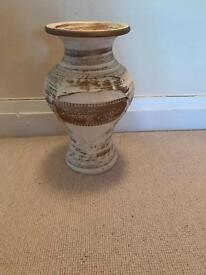 Cream and Gold Vase