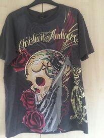 Christian Audigier Grey T Shirt