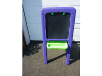 Early Learning Centre Double Sided Easel - Purple & Green - Chalk Board & White Board