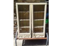Kitchen Display Cabinets (2) with Spice Drawers in Excellent Condition
