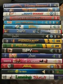 16 DVDs Wallace & Grommit Scooby Doo Mr Bean's Holiday Corpse Bride