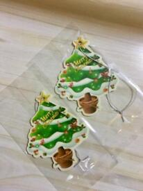Christmas Tree Shaped Pine or Black Ice Scented Air Fresheners for Car House or Office.