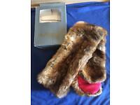 Dubarry of Ireland chinchilla fur scarf