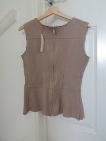 Womans Farfalla Faux Suede Sleeveless top (BRAND NEW with labels) £40