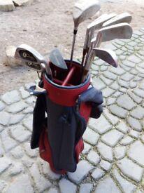 Kids golf clubs and bag