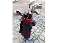Kids golf clubs and bag
