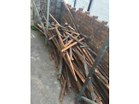 Free used roofing batten fire wood