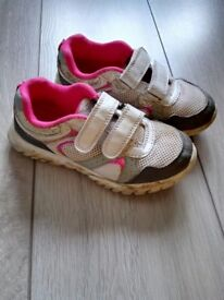Girls Size 11 trainers - two pairs