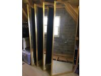 Bronze Mirrored Sliding Wardrobe Doors & Track
