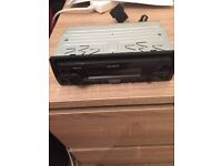 Sony explode car stereo