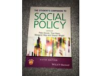 Students companion to social policy