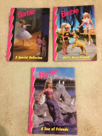 Barbie books X 3 - hardback great for a Barbie fan! christmas present idea?