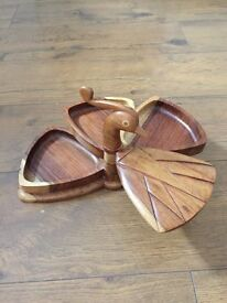 Wooden hen styled ornament