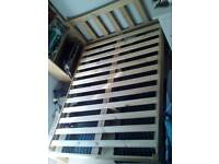 Solid pine double bed frame (cat or mattress not included)