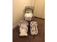 Babystyle Lux, 4 piece black/white buggy, used rarely, been in storage. Available to pick up