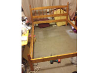 Wooden double bed and mattress. Price reduced!