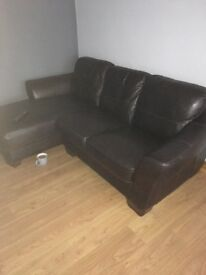 Leather sofa from well known furniture store