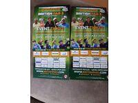 2x British Par 3 Championship Tickets 26-29th July Nailcote Hall Warwickshire