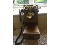 Reproduction antique wall-mounted telephone